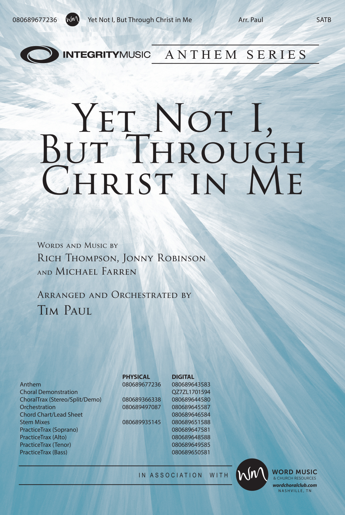 Yet Not I, But Through Christ In Me