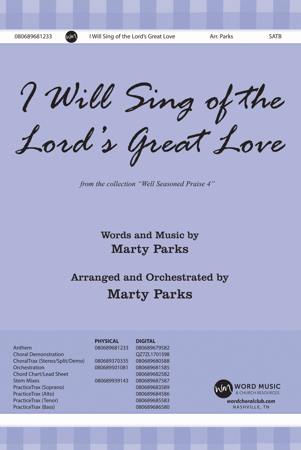 I Will Sing of the Lord's Great Love