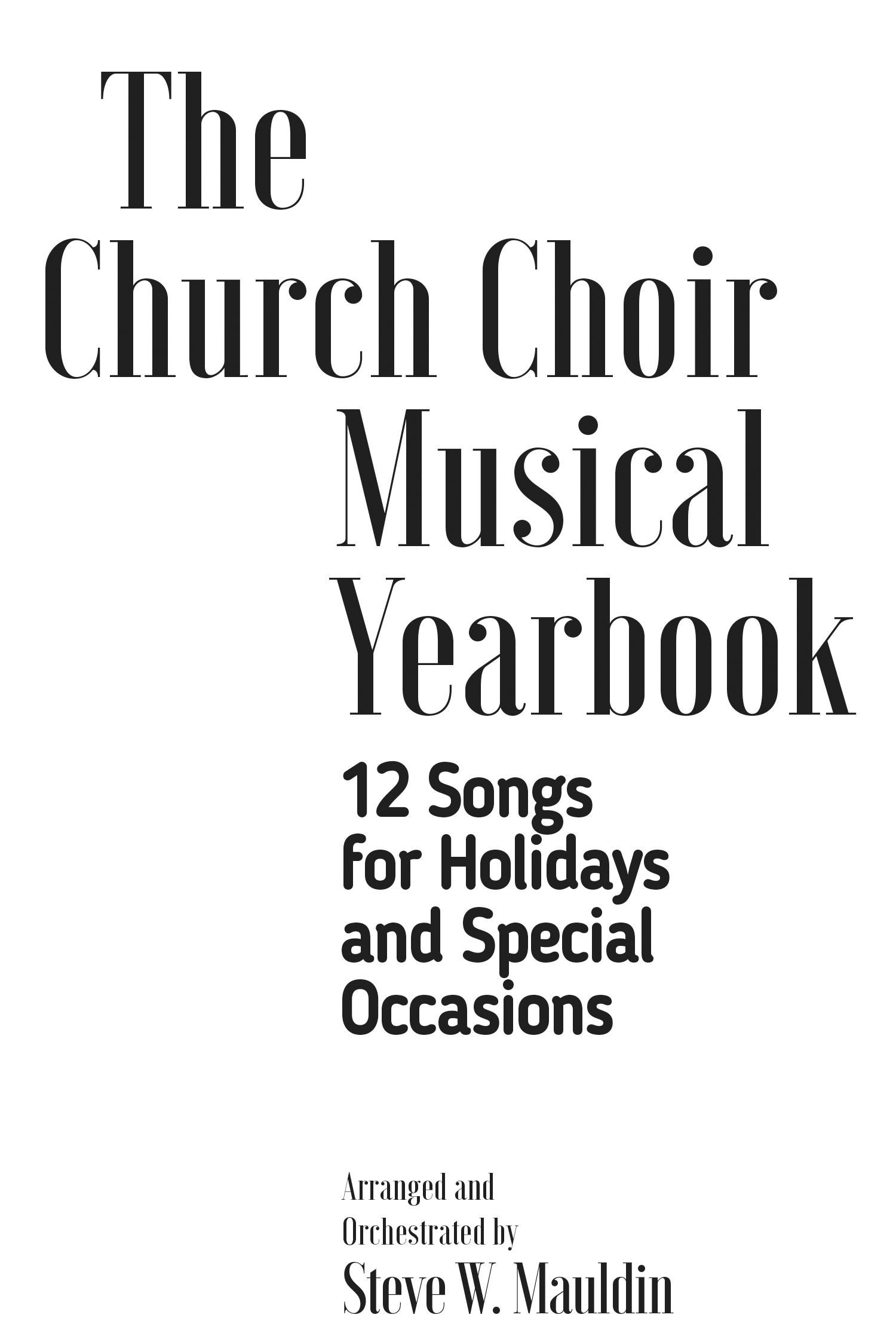 The Church Choir Musical Yearbook
